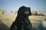 Health worker in Harasiis burqa and head scarf