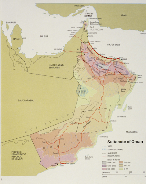 Map of the Sultanate of Oman — Nomads in Oman